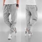 Dangerous DNGRS Placket Sweat Pants Grey Melange