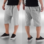 Dangerous DNGRS Smoff Sweat Shorts Grey Melange