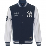 Majestic Hartmen Fleece Letterman Jacket NY Yankees