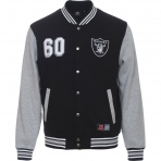 Majestic Fleece Letterman Jacket Oakland Raiders