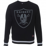 Majestic Raglan Mix Fabric Crew Sweat Oakland Raiders