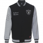 Majestic Hartmen Fleece Letterman Jacket Oakland Raiders