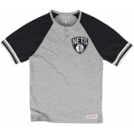 Mitchell & Ness Tričko Visiting Team Henley NBA - Brooklyn Nets