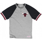 Mitchell & Ness Tričko Visiting Team Henley NBA - Chicago Bulls