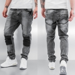 Bangastic Rifle PU Straight Fit Jeans Grey
