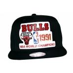 Mitchell & Ness šiltovka NBA Chicago Bulls'91 Back To Back Champions Snapback