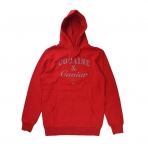 CROOKS & CASTLES COCAINE & CAVIAR REFLECTIVE 3M MEN'S PULLOVER HOODIE RED