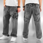 Dangerous Dngrs Dog Baggy Jeans Dark Grey
