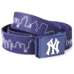 Mstrds Mlb Reflective Skyline Belt Navy