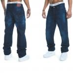 Rocawear Stay True Injection Denim Pants Mid Blue