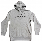 Crooks & Castles Hooded Pullover - No38 Heather Grey