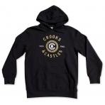 Crooks & Castles Hooded Pullover - Crooks Seal Black