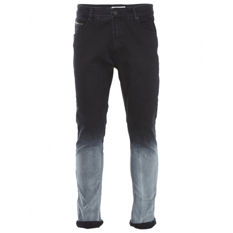 Shine Drop Crotch Jeans-Shade Čierne