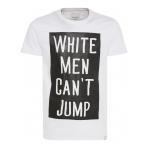 Shine Tričko White Men Can T Jump Biele