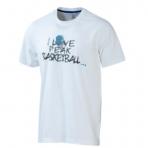 Peak I love Basketball Round Neck T-Shirt