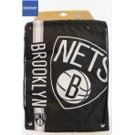Forever Collectibles Cropped Logo Drawstring Bag NBA Brooklyn Nets
