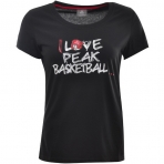 Peak  I love Basketball Round Neck T-Shirt Women