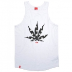Kream stars n straps tank top white