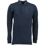Geographical Norway Kacardi Ls Polo Shirt Navy