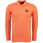 Geographical Norway Kacardi Ls Polo Shirt Light Orange