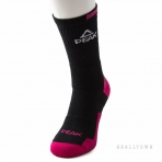 PEAK BASKETBALL SOCKS W14907 BLACK/ROSE/WHITE