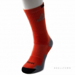 PEAK BASKETBALL SOCKS W14907 FLUORESCENT ORANGE/DK.GREY/BLACK