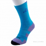 PEAK BASKETBALL SOCKS W14909 SKY BLUE/BLACK/PURPLE