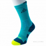 PEAK BASKETBALL SOCKS W14909 TURQUOISE/BLACK/FLUORESCENT GREEN