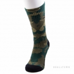 PEAK BASKETBALL SOCKS W454011 OLIVE GREEN