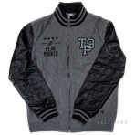 PEAK BASEBALL JACKET F253591 MID.MELANGE GREY