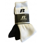 RUSSELL ATHLETICS Essential Sports Crew 3 páry biele/čierne/tmavomodré