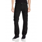 SOUTH POLE RIPPED NON DENIM PANT BLACK