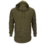 SOUTH POLE RIPPED HOODY OLIVE