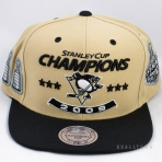 Mitchell & Ness 1992 Stanley Cup Champions Snapback Pittsburgh Penguins Yellow/Black/White
