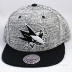 Mitchell & Ness Grey Duster Snapback San Jose Sharks Grey / Black