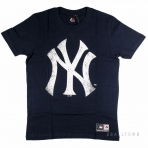 Majestic Valen Large Logo Tee Navy New York Yankees