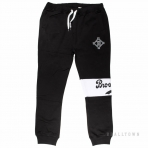 Majestic Tilter Fashion Wrap Font Jogger Black Brooklyn Dodgers