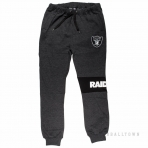 Majestic Tilter Fashion Wrap Font Jogger Charcoal Oakland Raiders