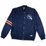 Majestic Emodin Fleece Letterman Jacket Navy Denver Broncos