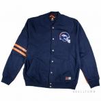 Majestic Emodin Fleece Letterman Jacket Navy Denver Broncos