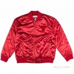 Mitchell & Ness Satin Bomber Jacket Chicago Bulls Red