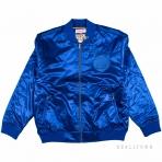 Mitchell & Ness Satin Bomber Jacket Golden State Warriors Blue
