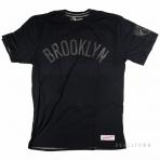 Mitchell & Ness Nba Bank Shot Tailored Tee Brooklyn Nets Black