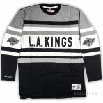 Mitchell & Ness Nhl Open Net Longsleeve Los Angeles Kings Black / Grey
