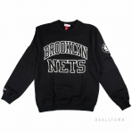 Mitchell & Ness Nba Start Of The Season Crew Brooklyn Nets Black