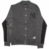 Majestic Emodin Fleece Letterman Jacket Charcoal New York Yankees