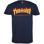 Thrasher Tričko Flame Logo Navy