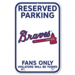 Wincraft Plastic Sign Atlanta Braves