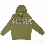 PEAK Hoodie Fleece Sweater F654301 Dk.Army