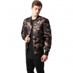 Urban Classics Camo Basic Bomber Jacket Wood Camo